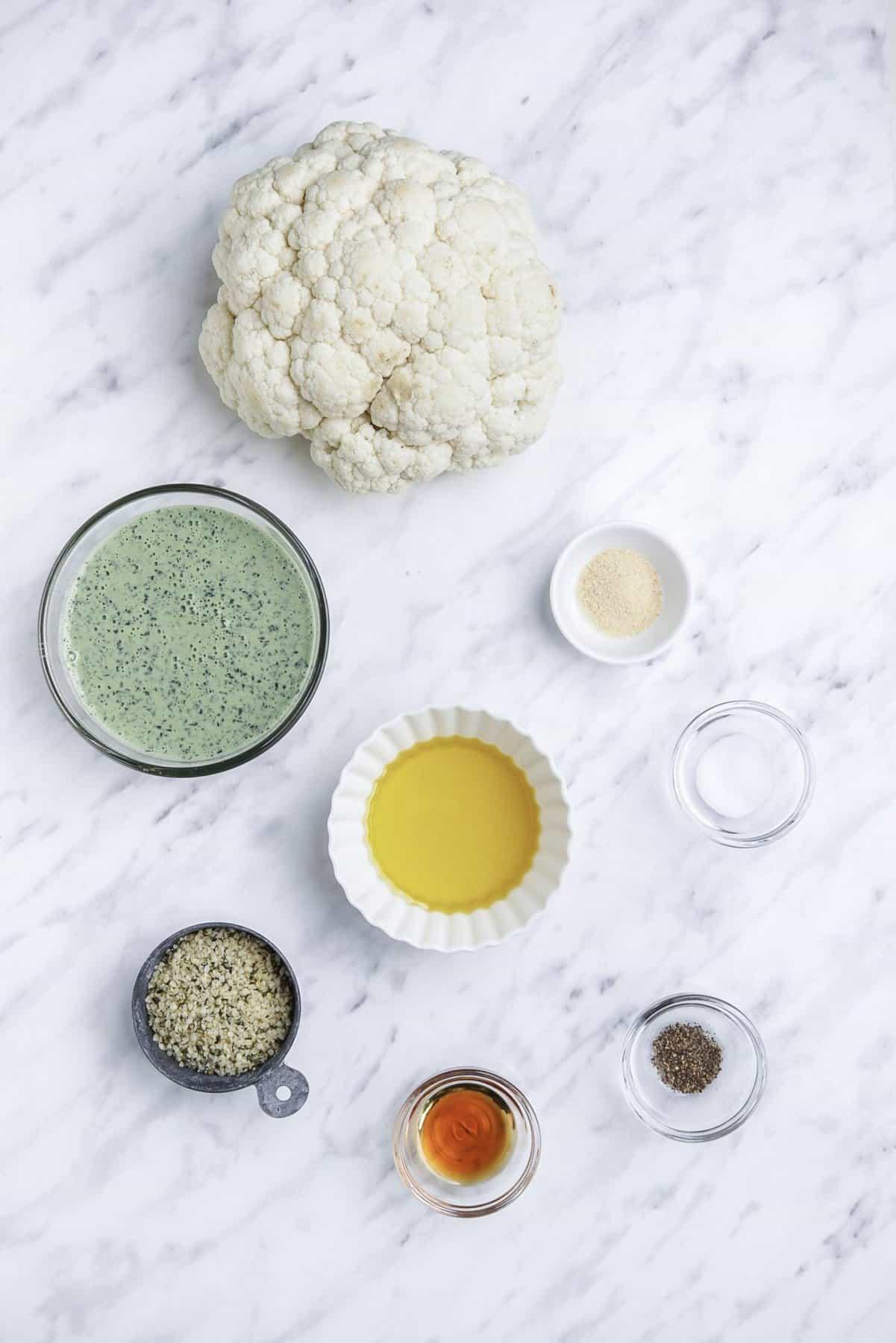 Whole Roasted Cauliflower Ingredients