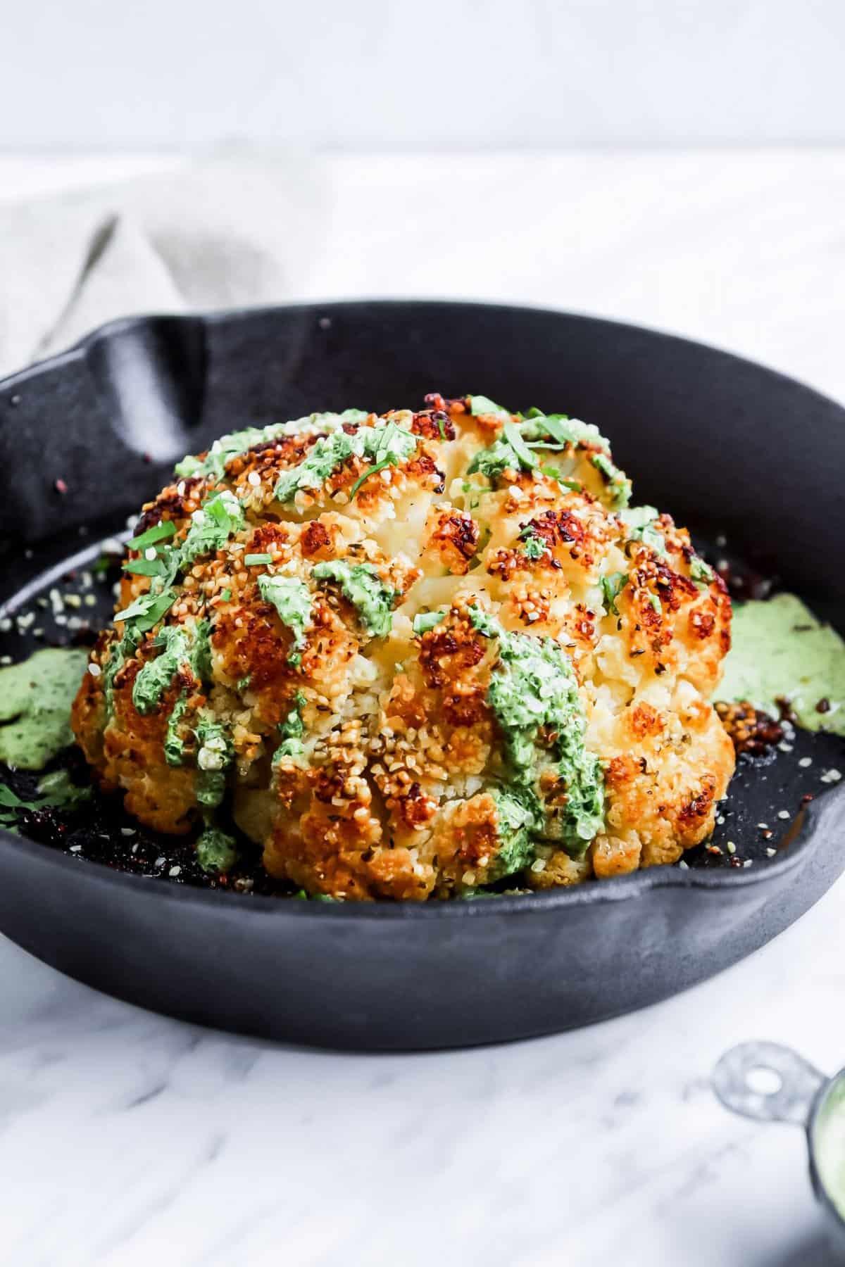 Vegan Paleo Whole Roasted Cauliflower Recipe