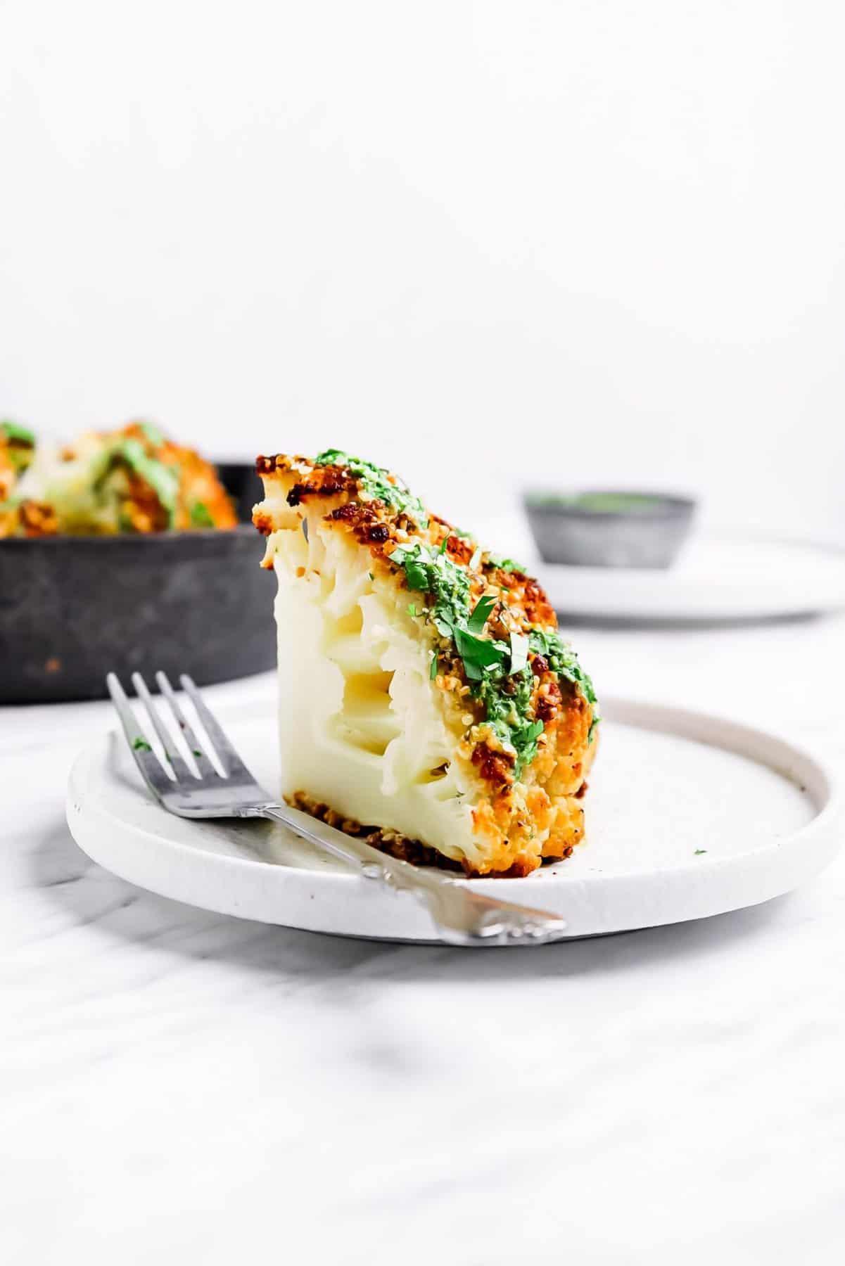 Best Whole Roasted Cauliflower Recipe Vegan