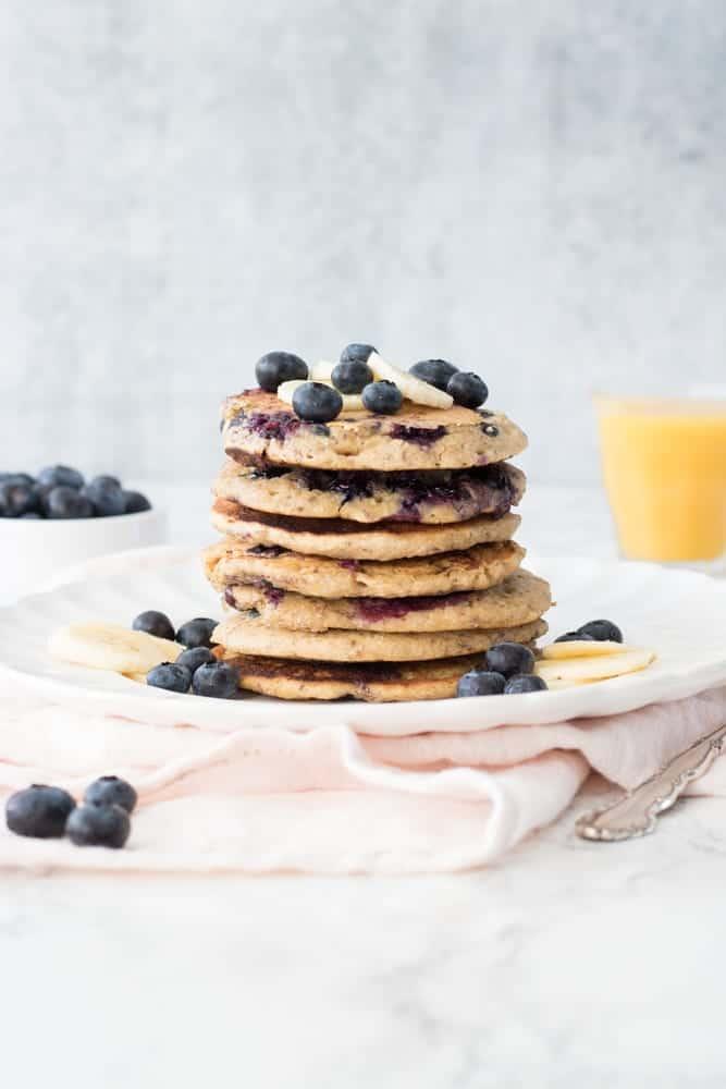 Vegan and Gluten-Free Blueberry Pancakes