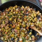 Spring Root Vegetable Hash with Creamy Herb Sauce