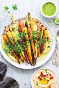 Whole Roasted Rainbow Carrots