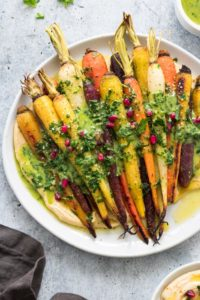 Whole Roasted Carrots Easter Side Dish