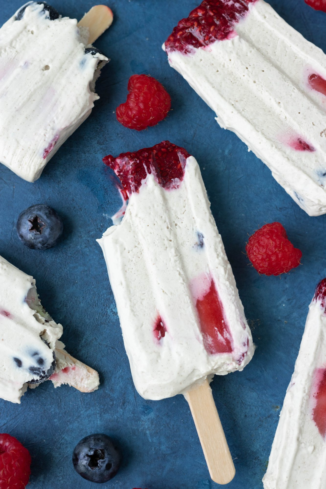 Vegan Berry Cream Popsicles