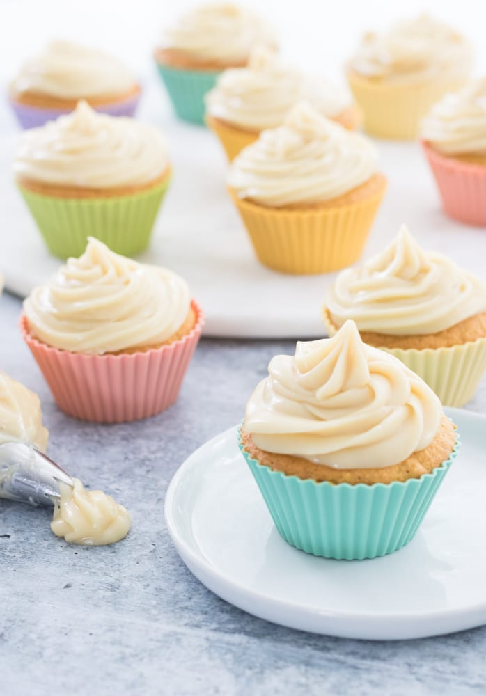Carrot Cake Cupcakes with White Sweet Potato Frosting