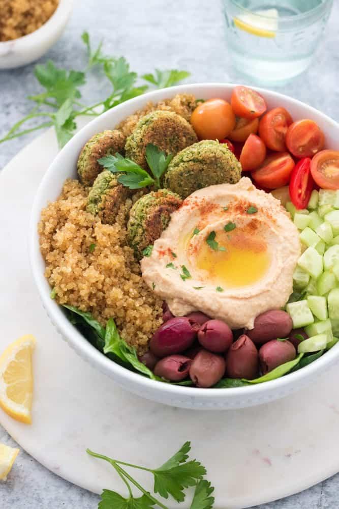 Gluten-Free Vegan Falafel Bowls