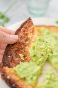 Crispy Socca with Avocado Mash