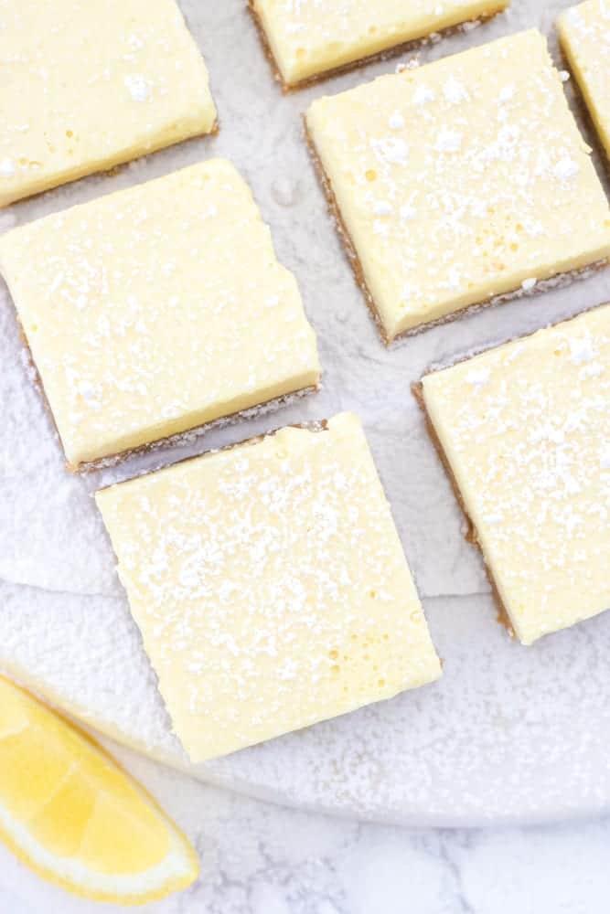 Frozen Gluten-Free Vegan Lemon Bars