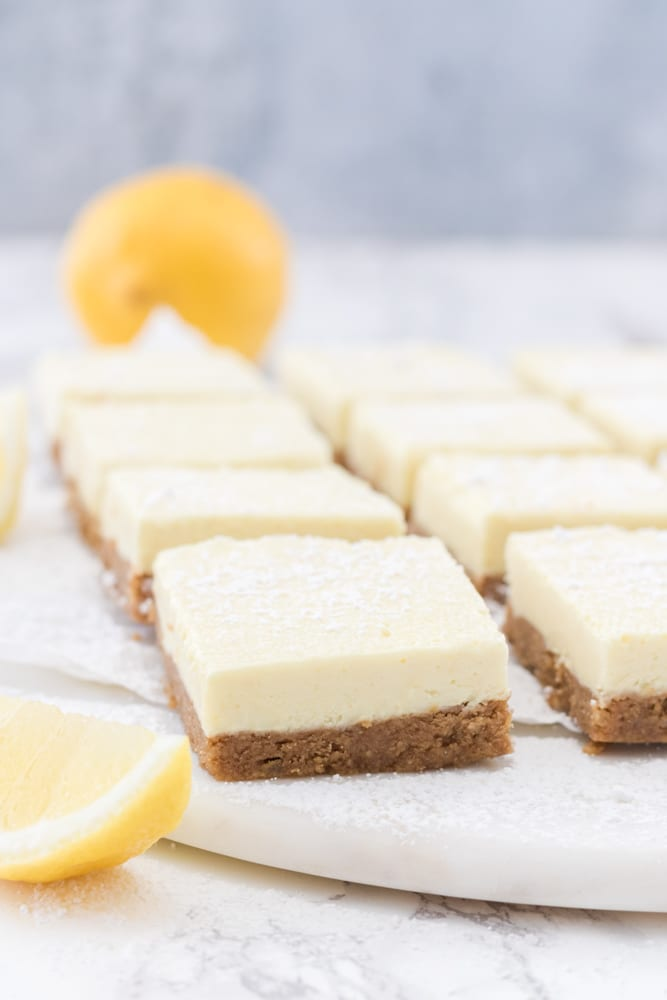 Vegan No-Bake Lemon Bars