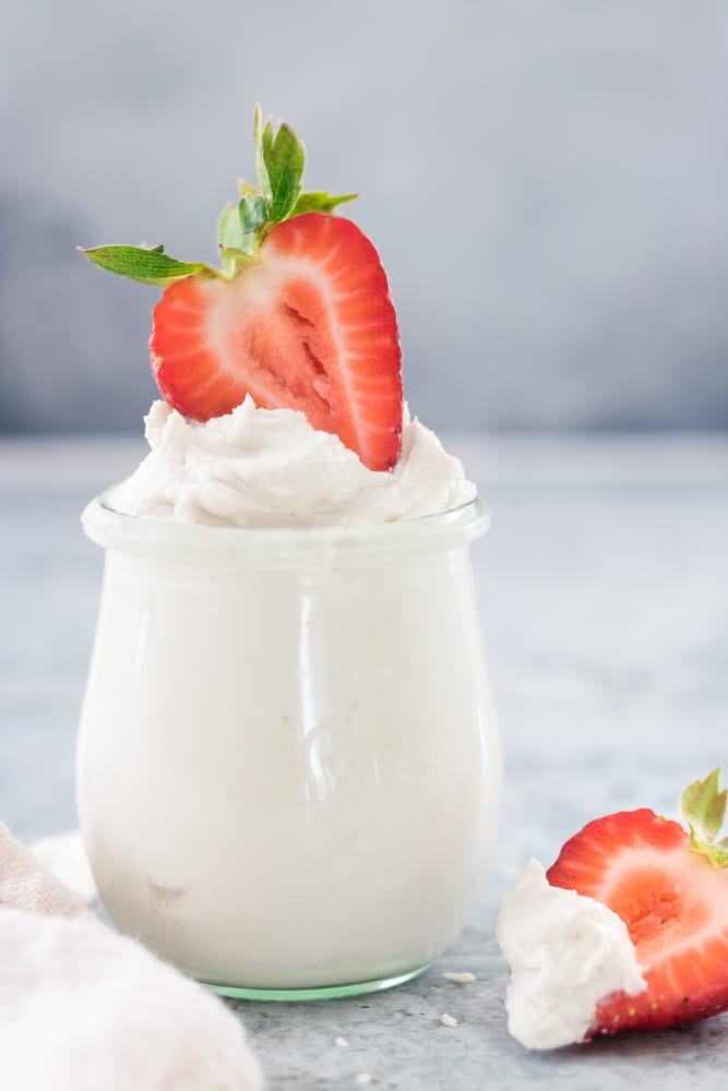 Dairy-Free and Refined Sugar Free Coconut Whipped Cream