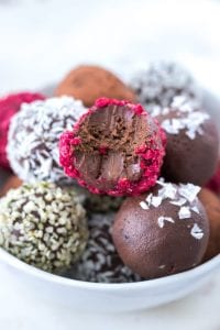 Vegan Avocado Chocolate Truffles