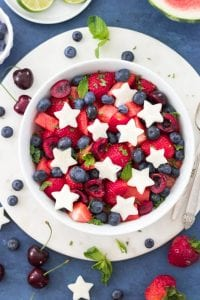 Red White and Blue Fruit Salad for July 4th