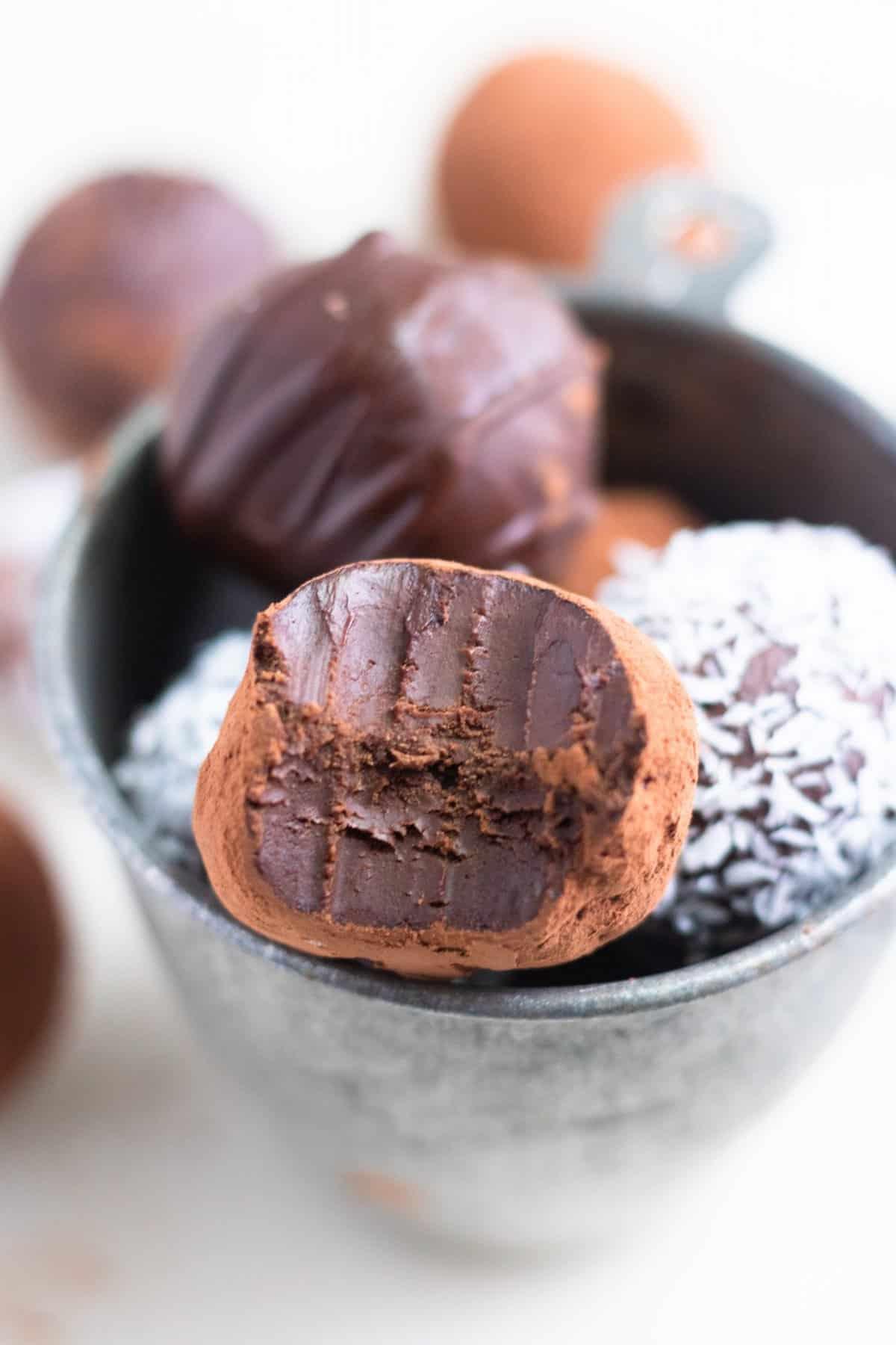 Vegan Avocado Chocolate Truffles