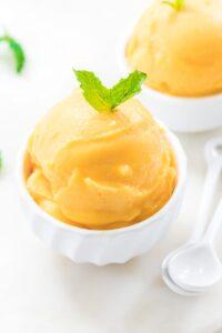 Homemade Mango Sorbet No Refined Sugars