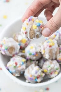 Vegan Paleo Birthday Cake Energy Bites