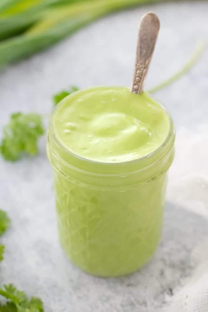 garlic cilantro lime sauce