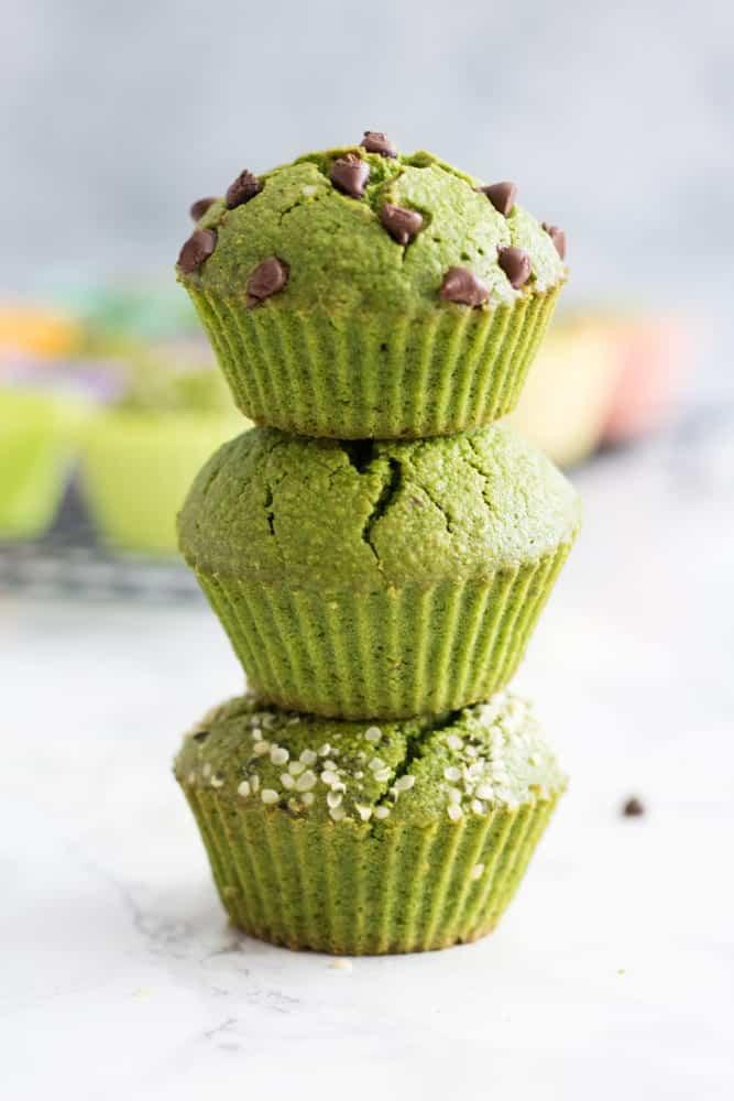Dye-Free Green Muffins (vegan + gluten-free + nut-free + refined sugar-free)