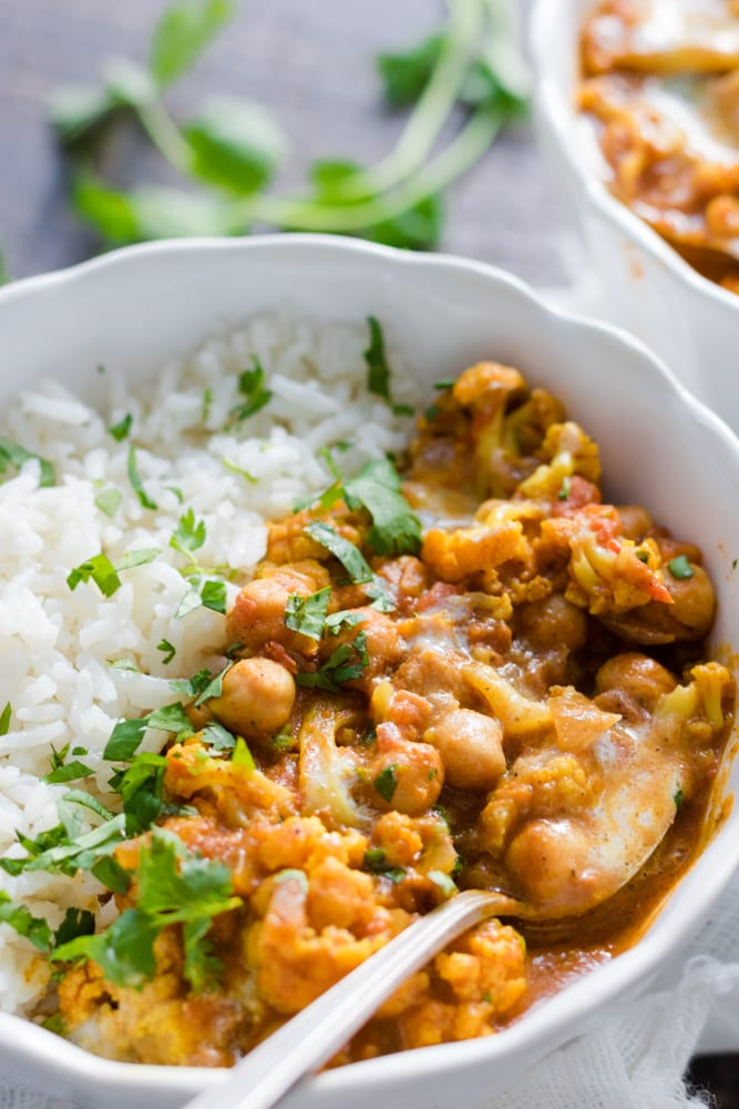 Cauliflower and Chickpea Tikka Masala