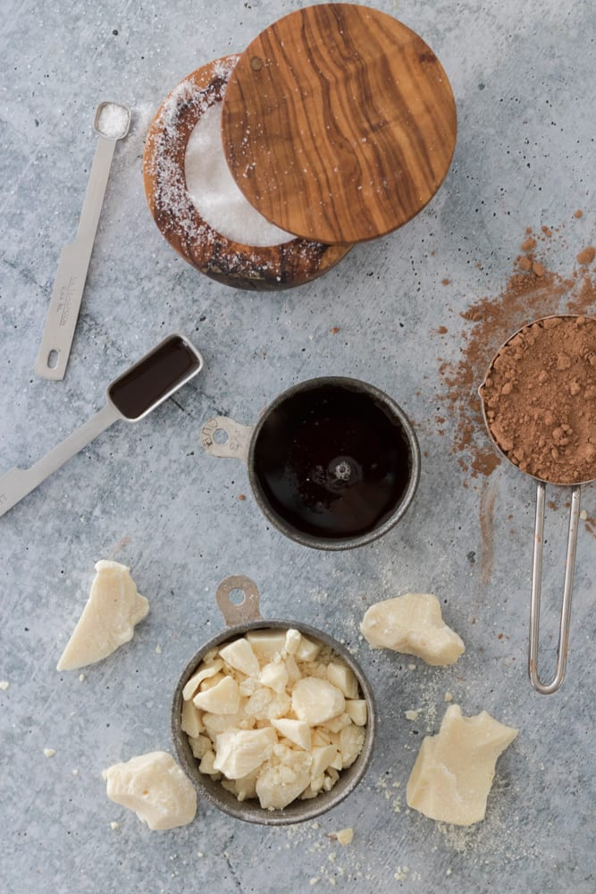 homemade vegan chocolate ingredients