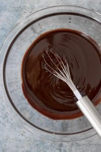 melted homemade dark chocolate