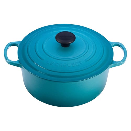 Le Creuset Signature Caribbean Enameled Cast Iron Round French Oven