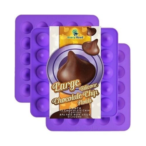 Large Chocolate Chip Silicone Mold - 3 Pack