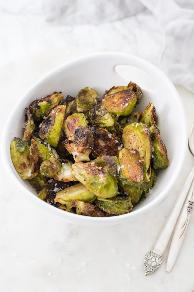 Crispy Maple Roasted Brussels Sprouts