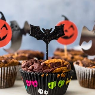 Vegan and Gluten-Free Pumpkin Chocolate Swirl Muffins - halloween