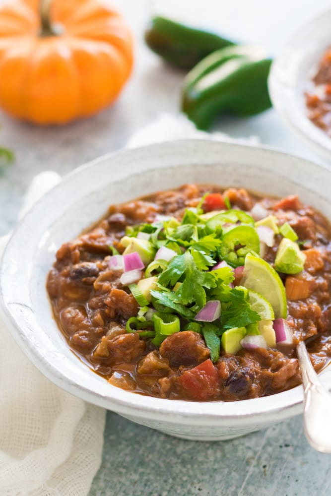 Vegan Healthy Pumpkin Chili