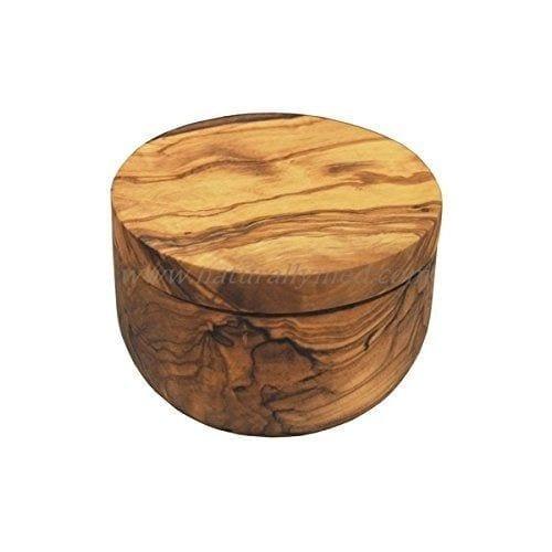 Naturally Med Olive Wood Salt Keeper