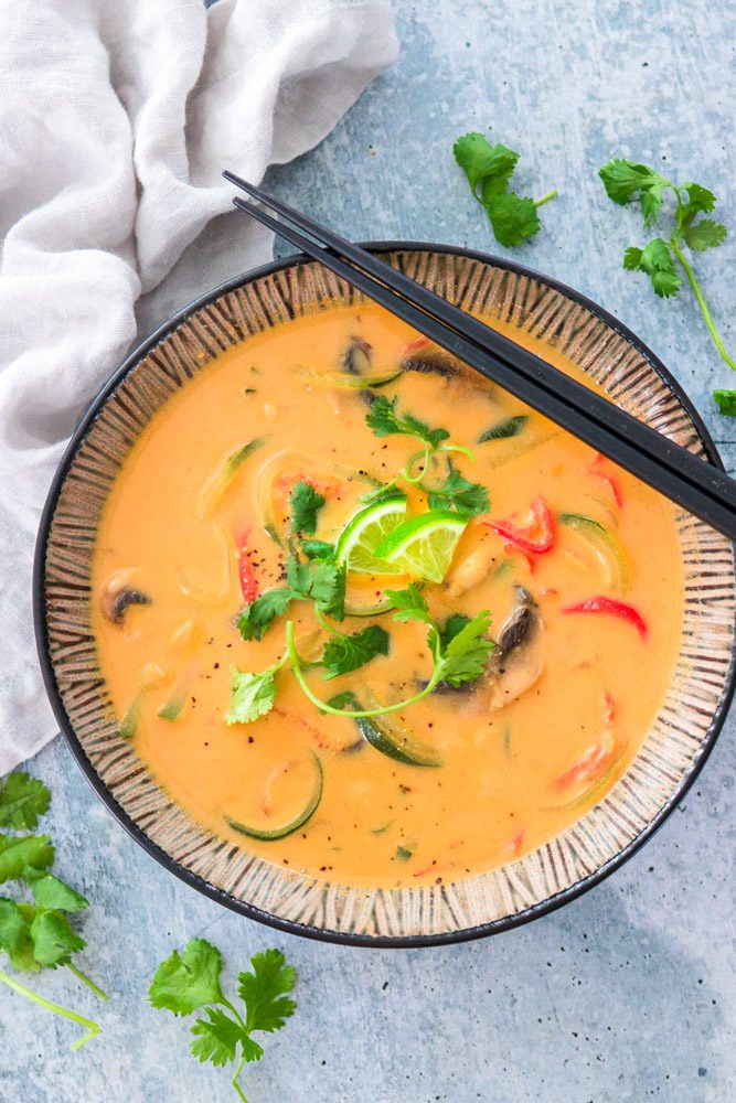 Vegan Thai Curry Soup with Veggies