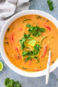 Vegan Thai Curry Zoodle Soup