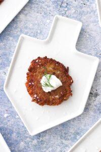 Crispy Vegan Potato Latkes
