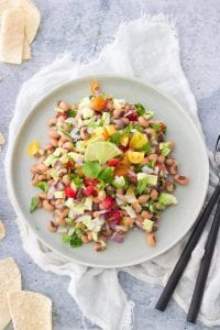 Black Eyed Pea and Avocado Salsa