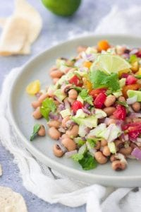 Black Eyed Pea Avocado Salsa