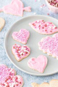 Vegan and Gluten-Free Sugar Cookies - Valentine's Day