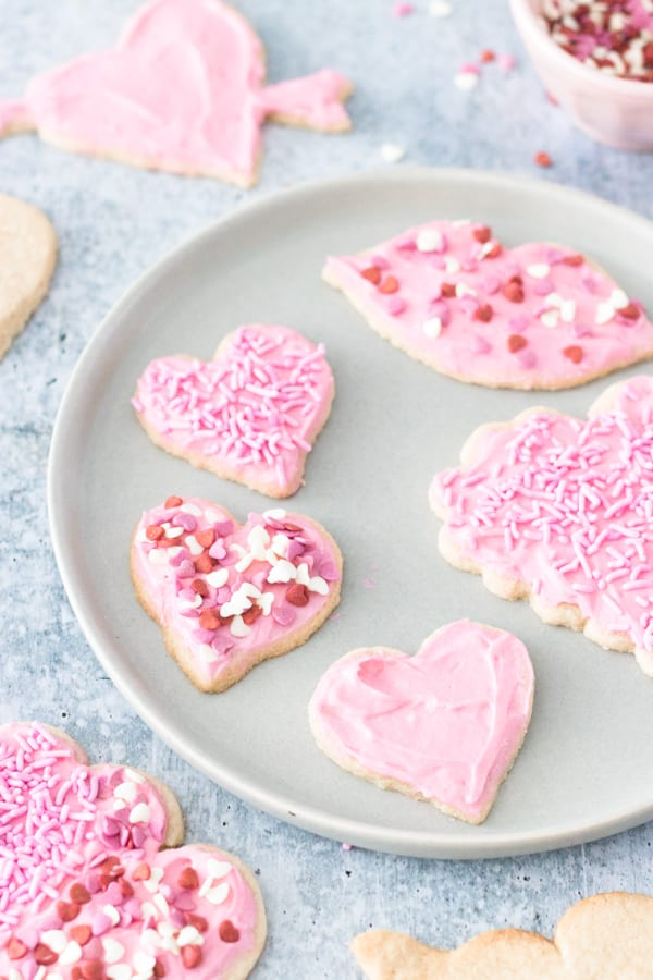 Vegan and Gluten-Free Sugar Cookies - Valentine's Day
