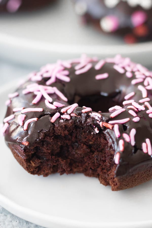 Vegan and Gluten Free and Refined Sugar Free Chocolate Donuts