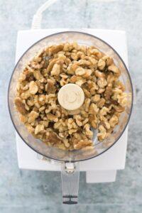 Walnuts in Food Processor