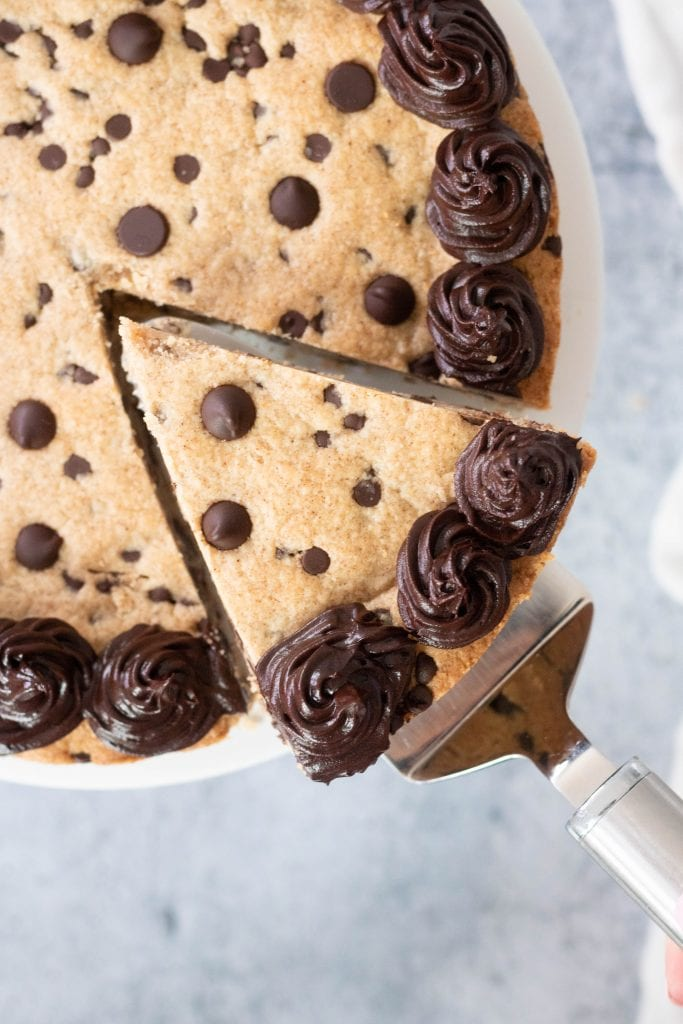 Vegan Gluten Free Chocolate Chip Cookie Cake