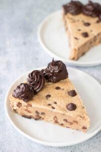 Vegan Gluten Free Chocolate Chip Cookie Cake