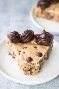 Vegan Grain Free Chocolate Chip Cookie Cake