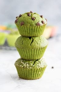 Dye-Free Green Muffins