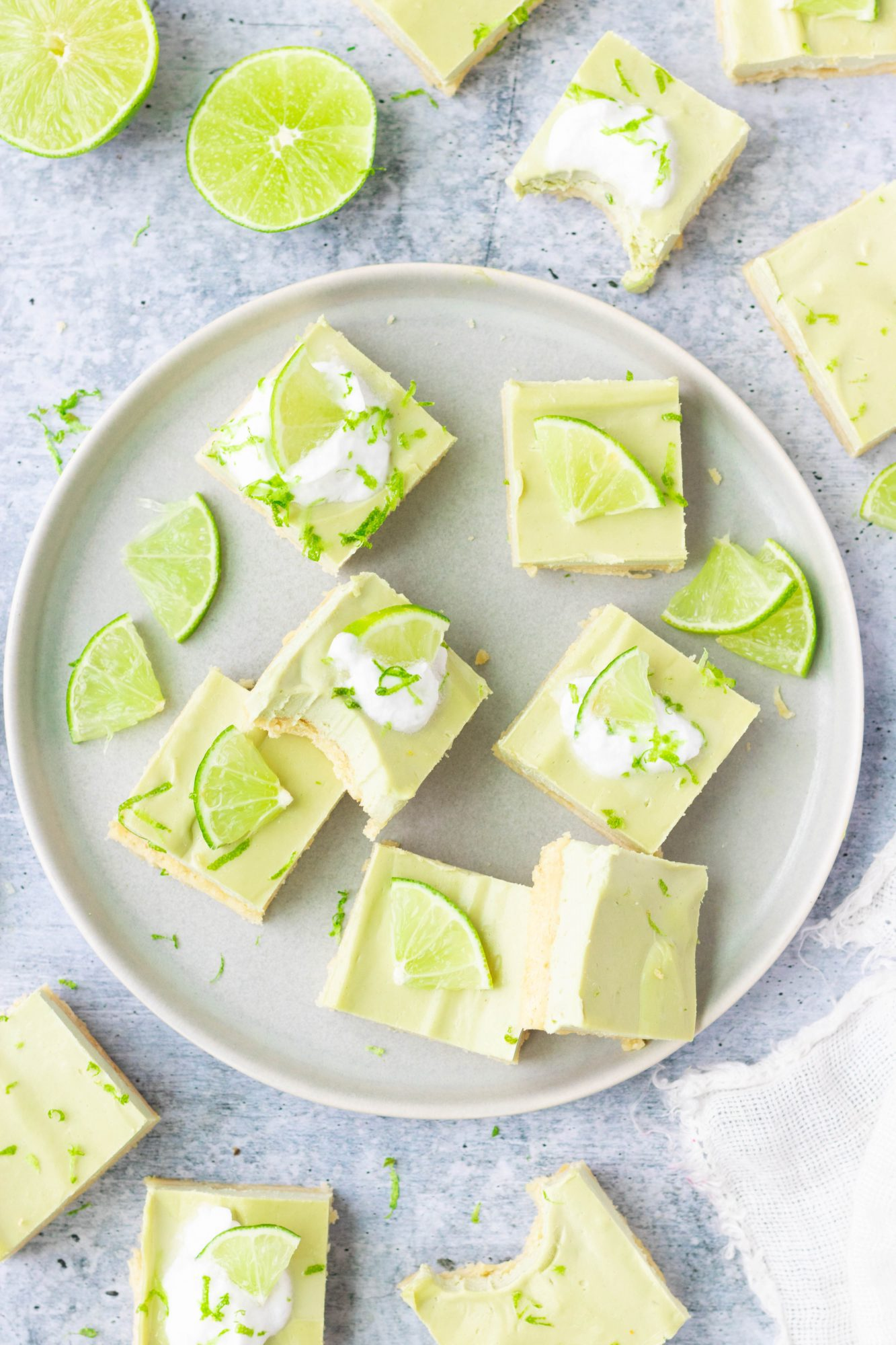 Gluten Free and Vegan Key Lime Pie Bars