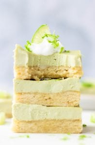 Gluten-Free and Vegan Key Lime Pie Bars