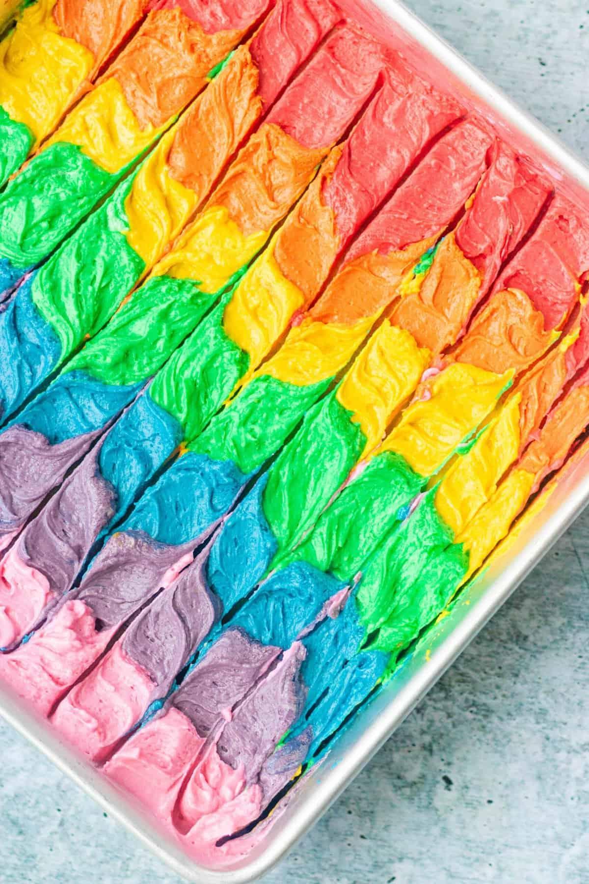 Rainbow Sheet Cake