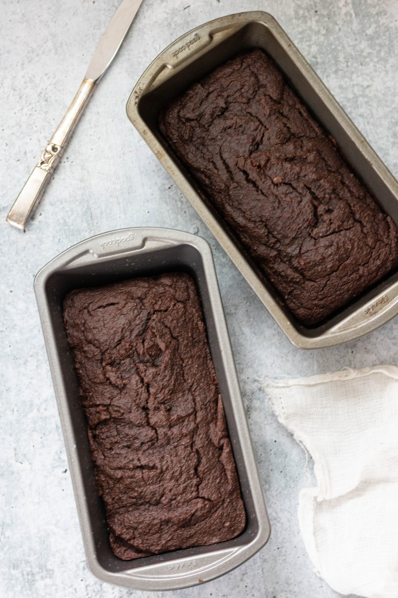 Two-Tier Chocolate Loaf Pan Cake