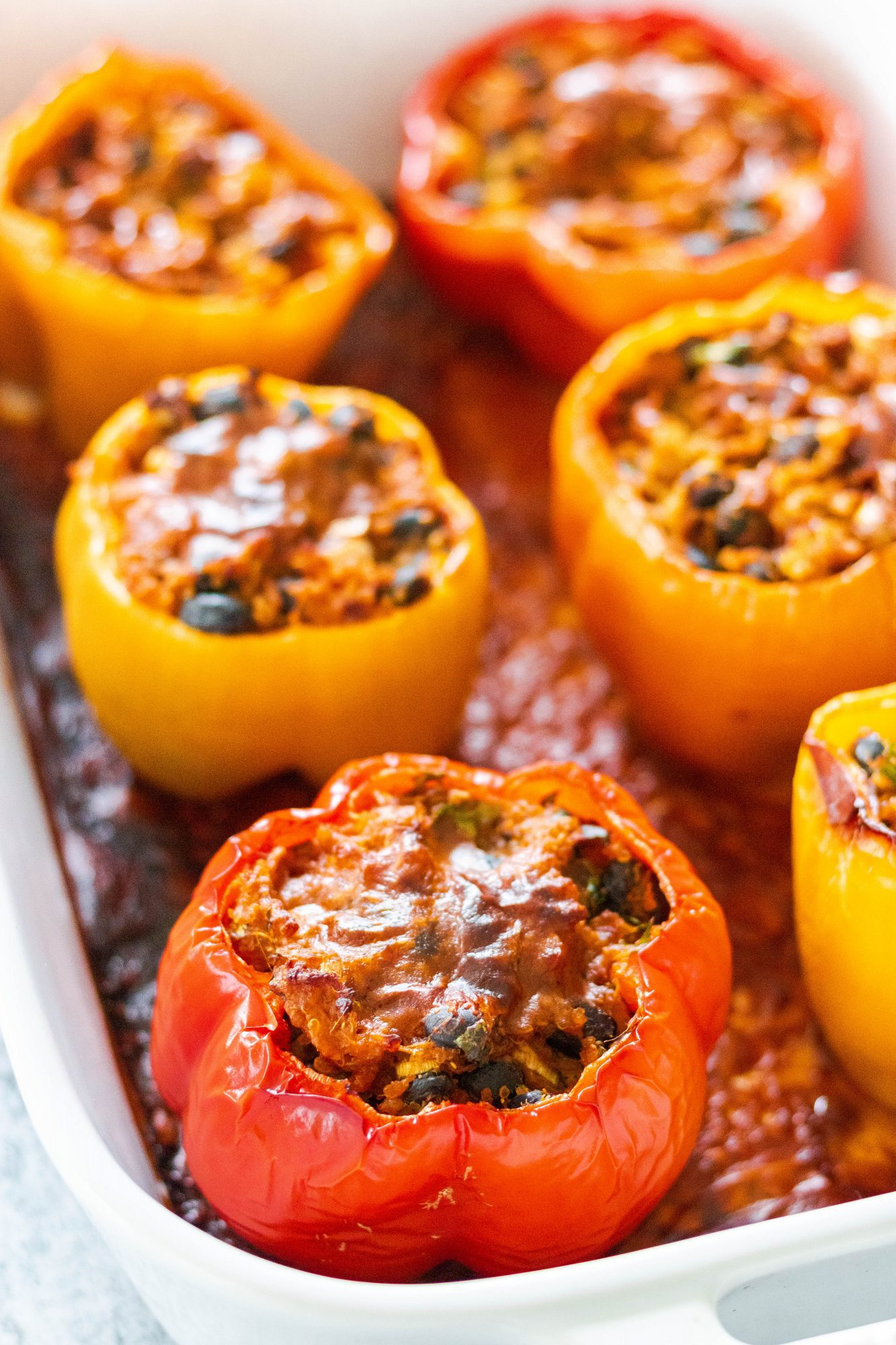 Vegan Stuffed Bell Pepper