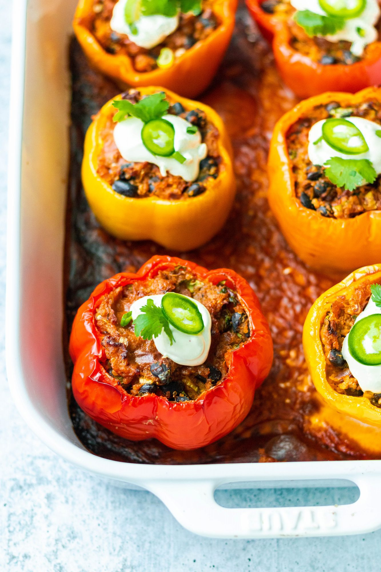 Vegan Mexican Stuffed Peppers