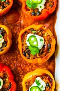 Dairy-Free Enchilada Stuffed Bell Peppers